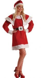 Ladies Budget Mrs Santa Claus Christmas costume.